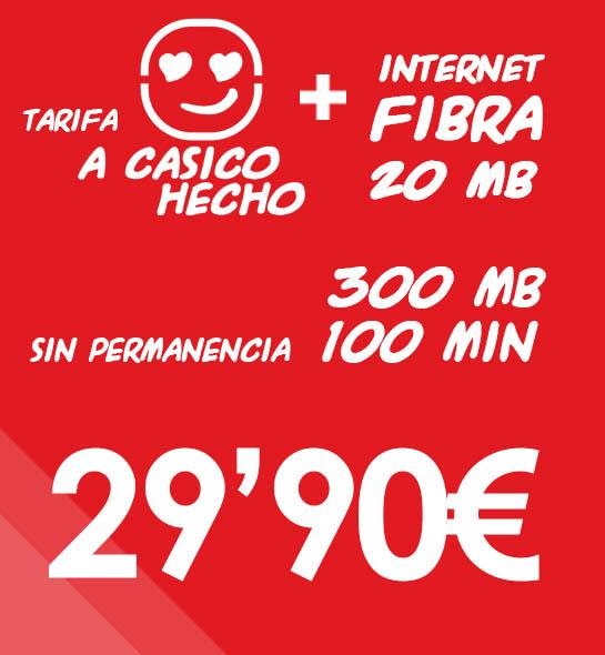 Internet Fibra 20MB + Tarifa A Casico Hecho