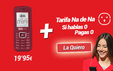DPA Mini rojo + tarifa NA de Na